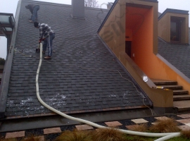Insufflaggio tetto dall'esterno con tubo singolo