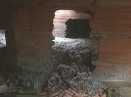 Insufflaggio tetto con struttura a muricci